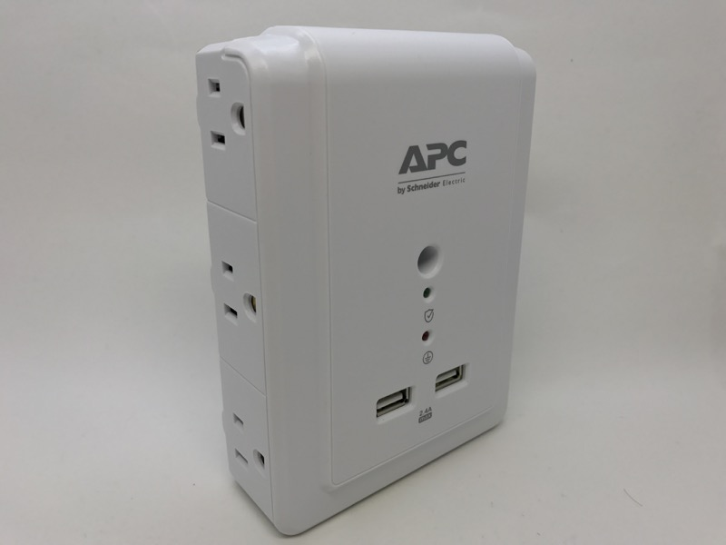 apc essential surgearrest 6 outlet p6wu2 review here you can see either side of the p6wu2 three outlets each side notice the threaded screw in the middle apc cautions you to use only a duplex