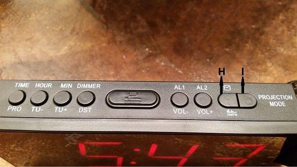 Mesqool AM/FM projection alarm clock review – The Gadgeteer