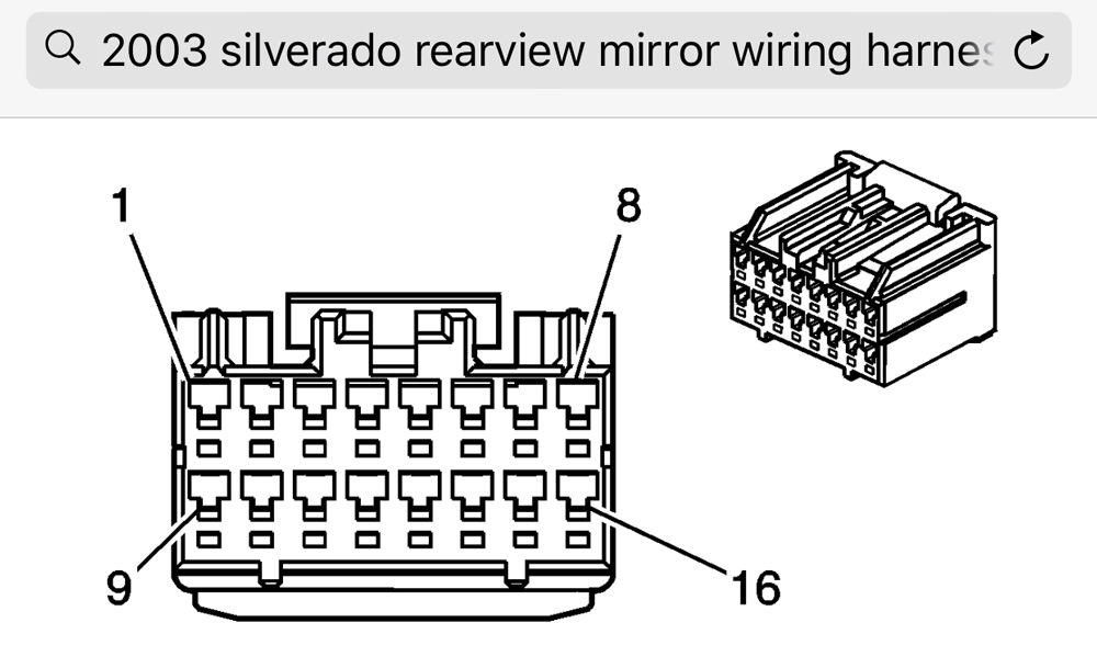 2008 silverado mirror wiring diagram