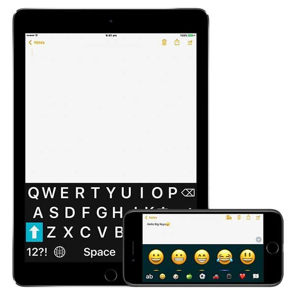 Android Bluetooth Keyboard Emoji: Developer With Visual Disability Creates Big Keys IOS Keyboard App With Emojis