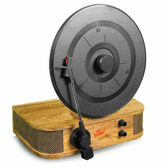 pyle 39 s new turntable goes bluetooth and vertical the gadgeteer. Black Bedroom Furniture Sets. Home Design Ideas