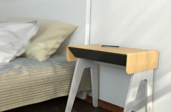 This Bedside Table Charges Your Phone Wirelessly And Wakes
