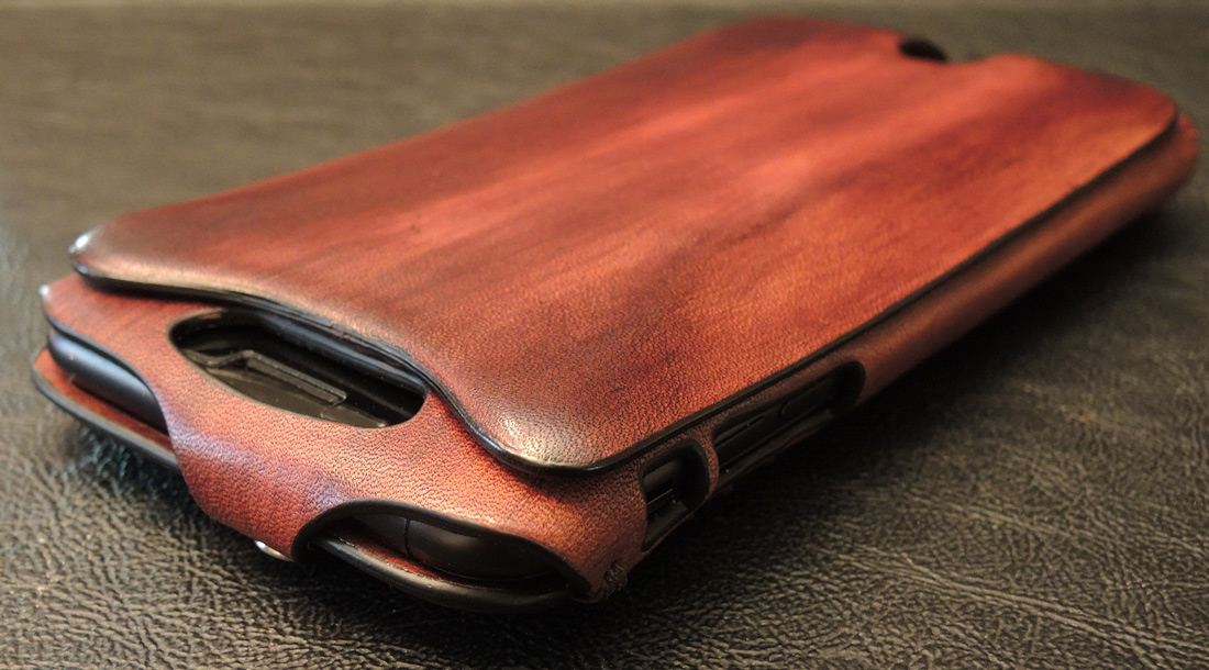 Orbino SE Pantera 7 Hand-stained Mahogany Leather iPhone 7 case ... a59a86a6c6f0