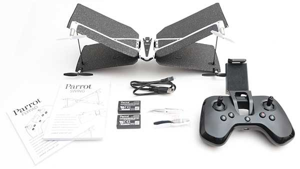 Whats In The Box Parrot Swing Drone