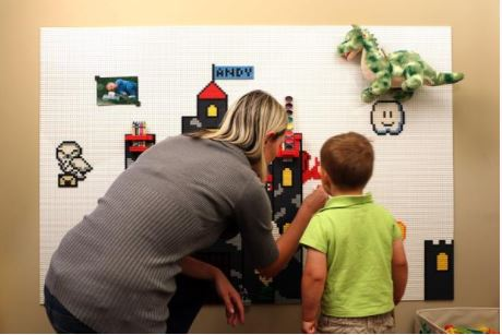 stick lego to your walls with brik removable wall tiles the gadgeteer