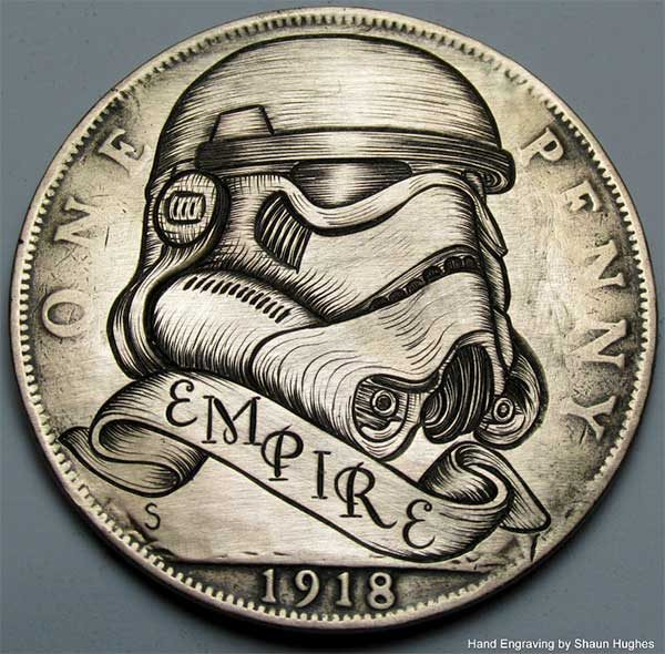 These Star Wars inspired hand engraved coins are insanely