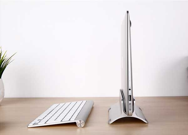Save Space On Your Desk With This Vertical Macbook Stand