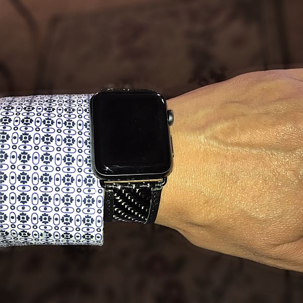 online store 8ebf3 ba65b Carbon Fiber Gear real carbon fiber and leather 42mm Apple Watch ...
