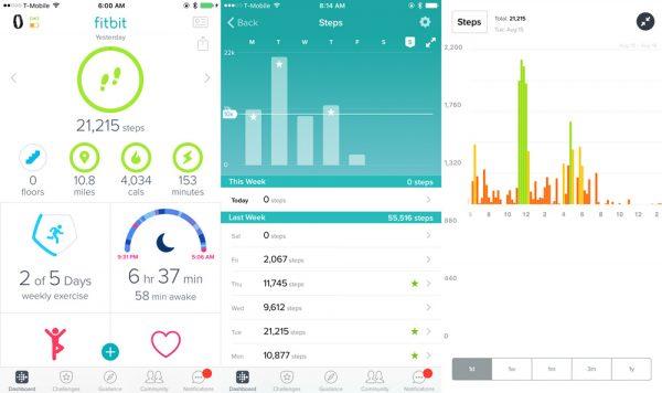 fitbit altaHR fitnessdata