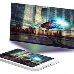 This 8 inch Android tablet has a built in projector