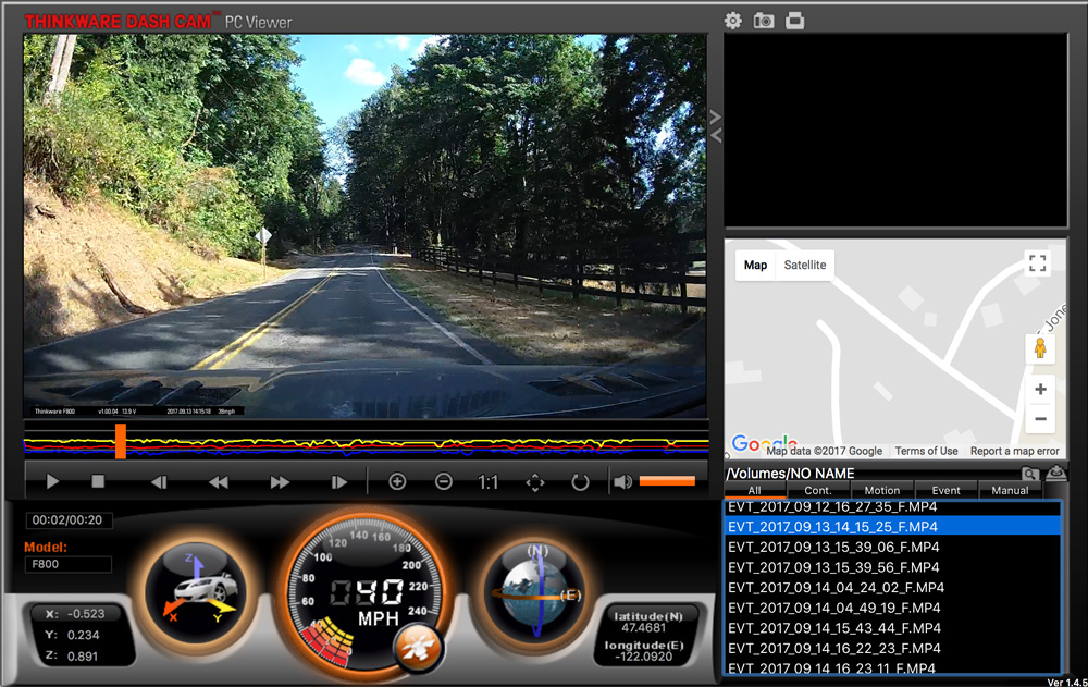 Thinkware F800 Dashcam Review The Gadgeteer