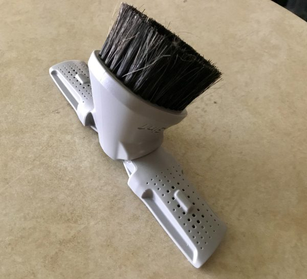 this clever brush attachment is actually three in one depending on which end you place within the handle
