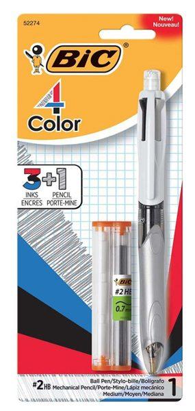 bic 3 color plus pencil