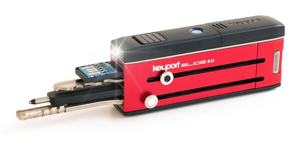 keyport slide 3 multitool key organizer red