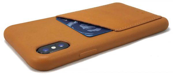 mujjo leatheriphoneX orangebackedge 1