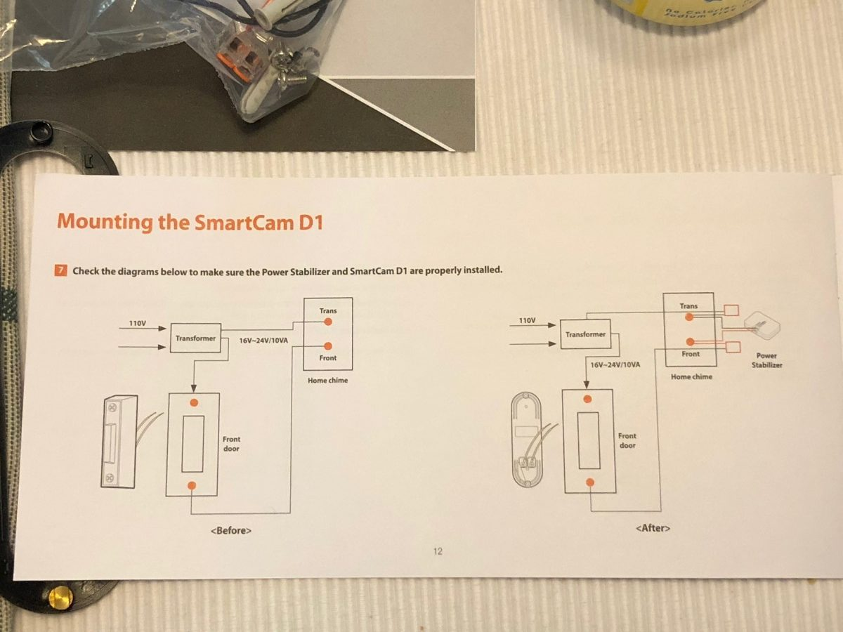 Wisenet Smartcam D1 Video Doorbell Review The Gadgeteer Wiring Up Next Disconnect Existing And Attach Then Ask Person In House Who Will Care Which Trim Ring They Prefer