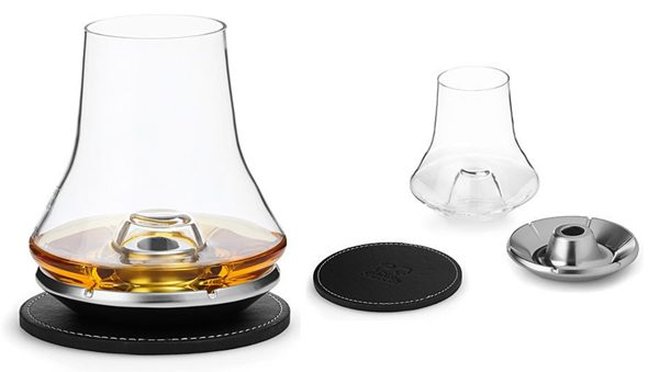 A tasting glass that cools your whiskey without diluting it – The Gadgeteer - whiskey tasting glass with cooling coaster 600x339 - A tasting glass that cools your whiskey without diluting it – The Gadgeteer
