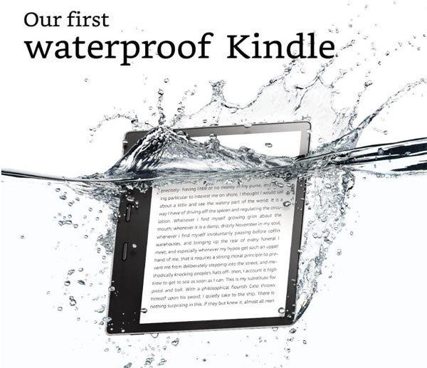 kindle oasis waterproof reader
