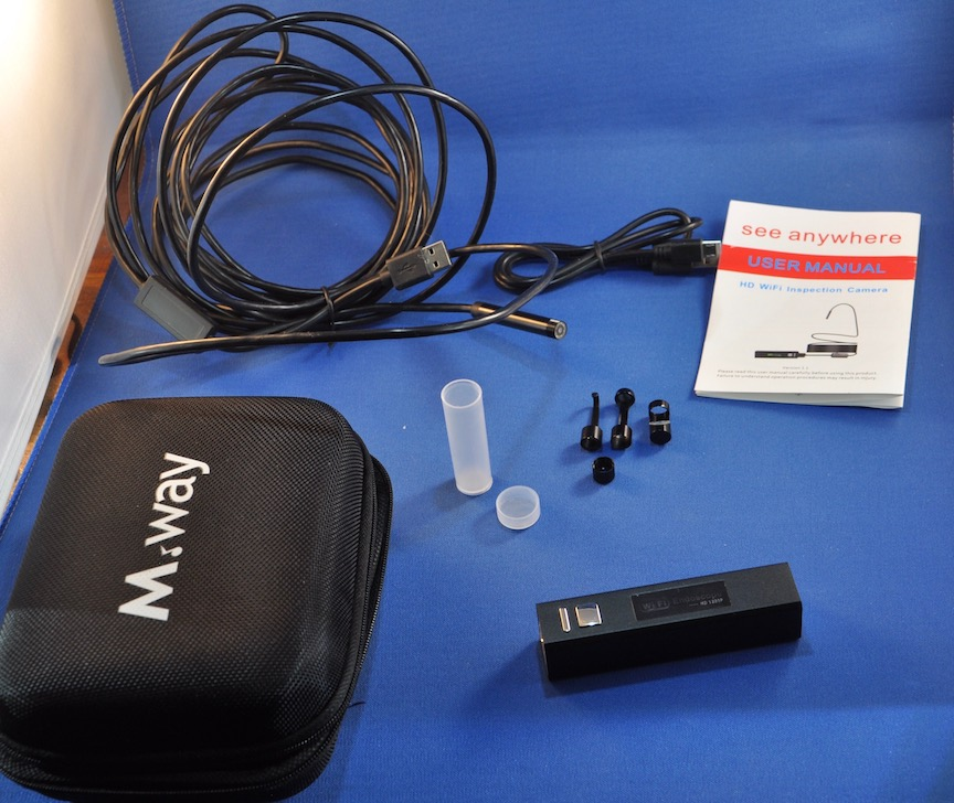 MWAY HD 1200P WiFi endoscope camera review – The Gadgeteer