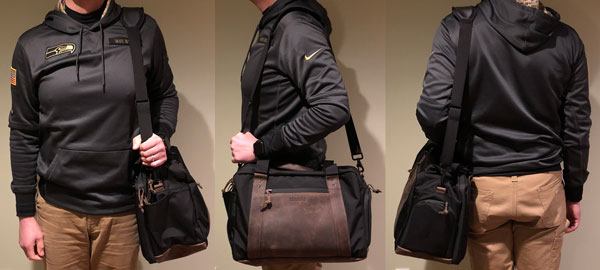 e2131aa61e The Atlas Executive Athletic Holdall can be transported in several ways.  Waterfield includes a removable suspension strap for carrying the bag over  the ...