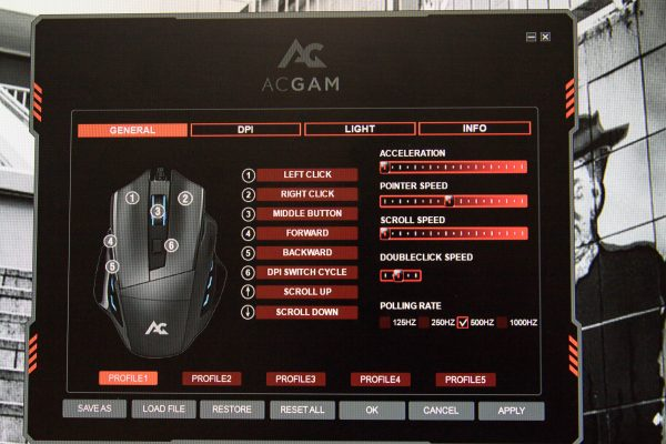 ACGAM Mouse Screen 1