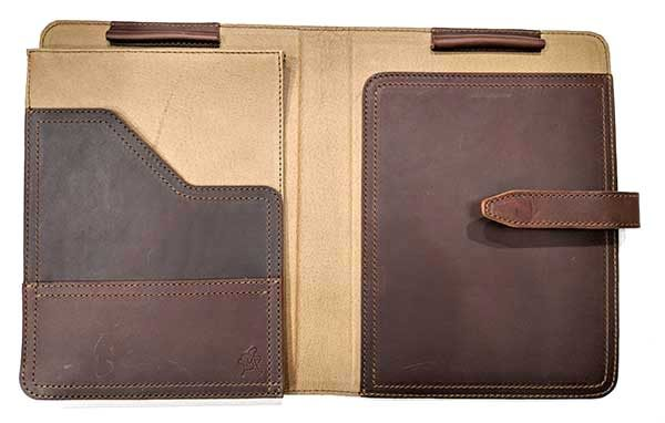 - saddleback tablet holder 3 600x382 - Saddleback Leather Company Tablet Notepad Holder review