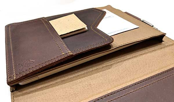 - saddleback tablet holder 5 600x353 - Saddleback Leather Company Tablet Notepad Holder review
