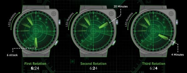 tokyo flash japan radar led watch