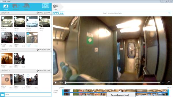 OMICAM PC Software Screen