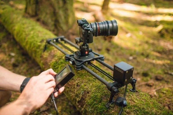The Rhino Slider EVO Motorized Camera Slider is smooth