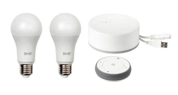 IKEA is offering a connected home lighting kit and accessories