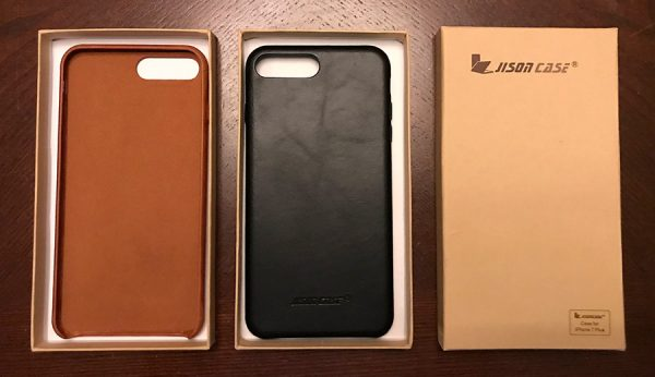 Jisoncase leather iphone case samples in brown and black