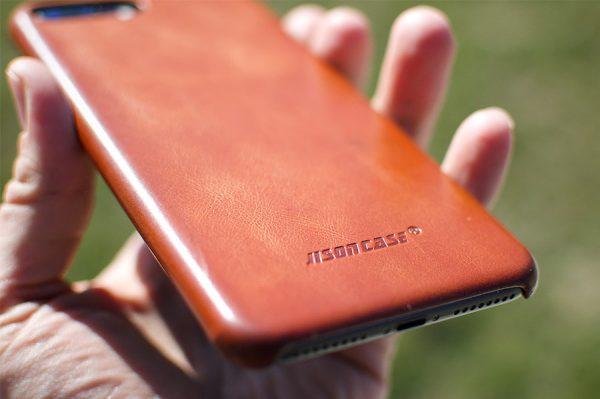 Jisoncase leather iphone case back texture
