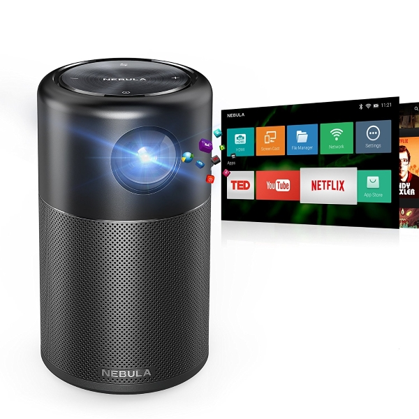 With the nebula capsule smart mini projector you can for Smart pocket projector