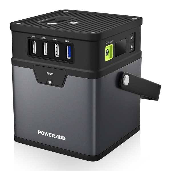The Poweradd ChargerCenter portable generator can power your essential gadgets thru the next storm