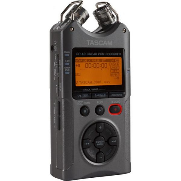 Tascam DR 40 4 Track Handheld Digital Audio Recorder