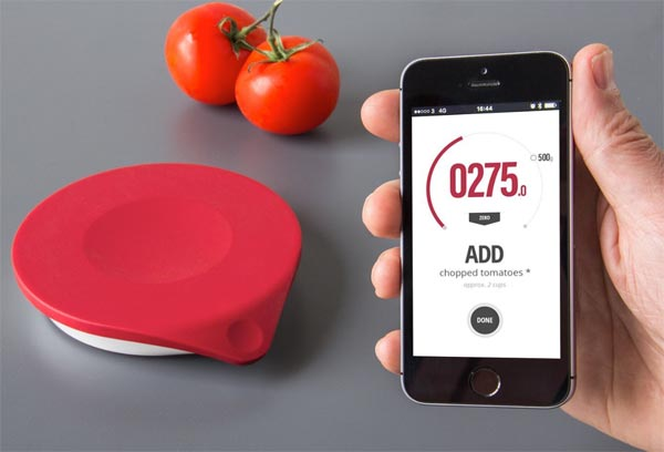 Cooking is easy as pie with this smart kitchen scale the for The drop kitchen scale