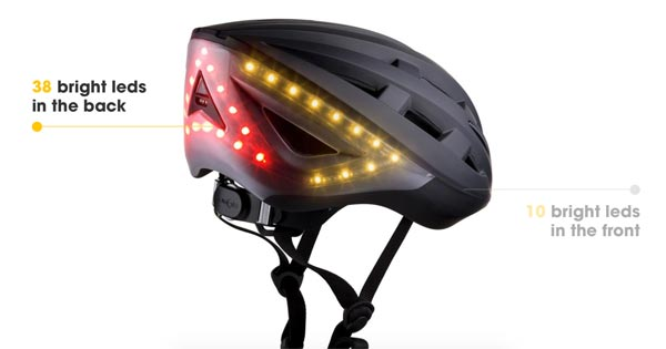 The Lumos smart bike helmet has built-in turn signals