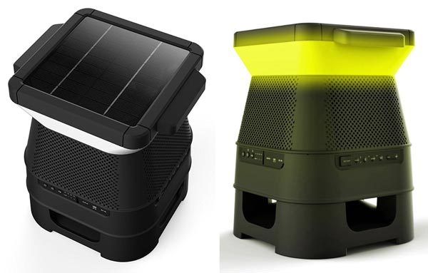 Set up your yard with some solar-powered speakers from Monster