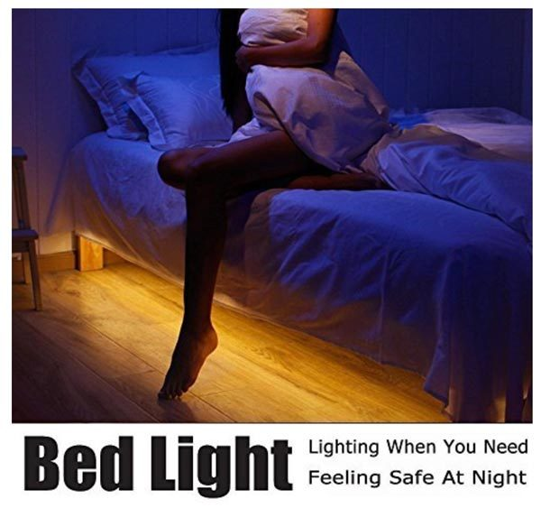 No more bathroom trips in the dark with the Vansky motion-activated LED bed light