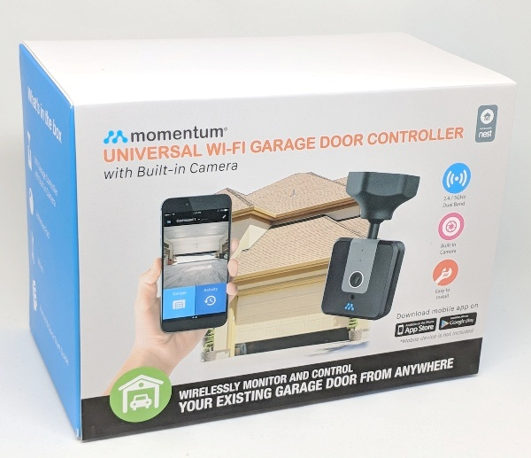 Momentum Niro Wifi Garage Door Controller With Built In Camera