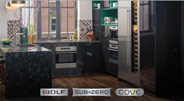 subzero wolf compact kitchen