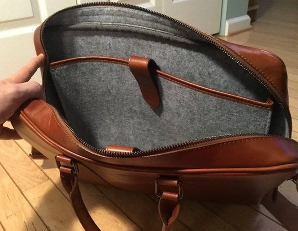 - Burkley LeatherBusinessBriefcase 6 600x465 - Burkley Leather Business Briefcase review – The Gadgeteer