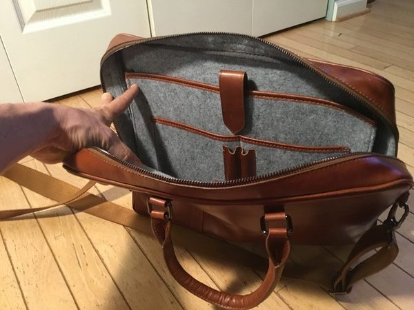 - Burkley LeatherBusinessBriefcase 7 e1531443686375 600x450 - Burkley Leather Business Briefcase review – The Gadgeteer