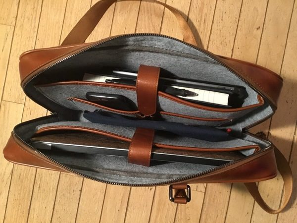 - Burkley LeatherBusinessBriefcase 9 600x450 - Burkley Leather Business Briefcase review – The Gadgeteer