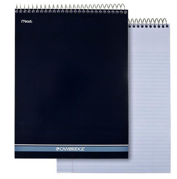 mead cambridge top bound notebook