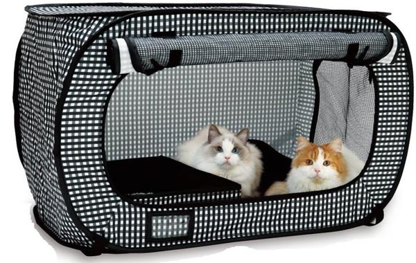 Make traveling with your cat stress-free with the Necoichi cat cage