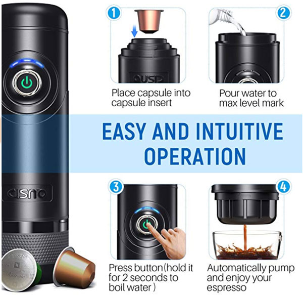 Cisno Electric Portable Espresso Machine Review The