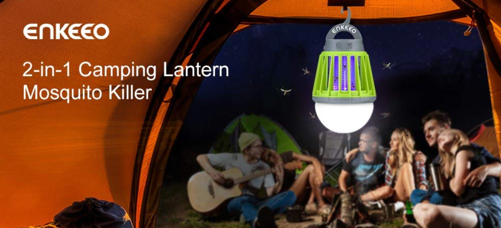 You'll want this camping lantern to attract mosquitoes!