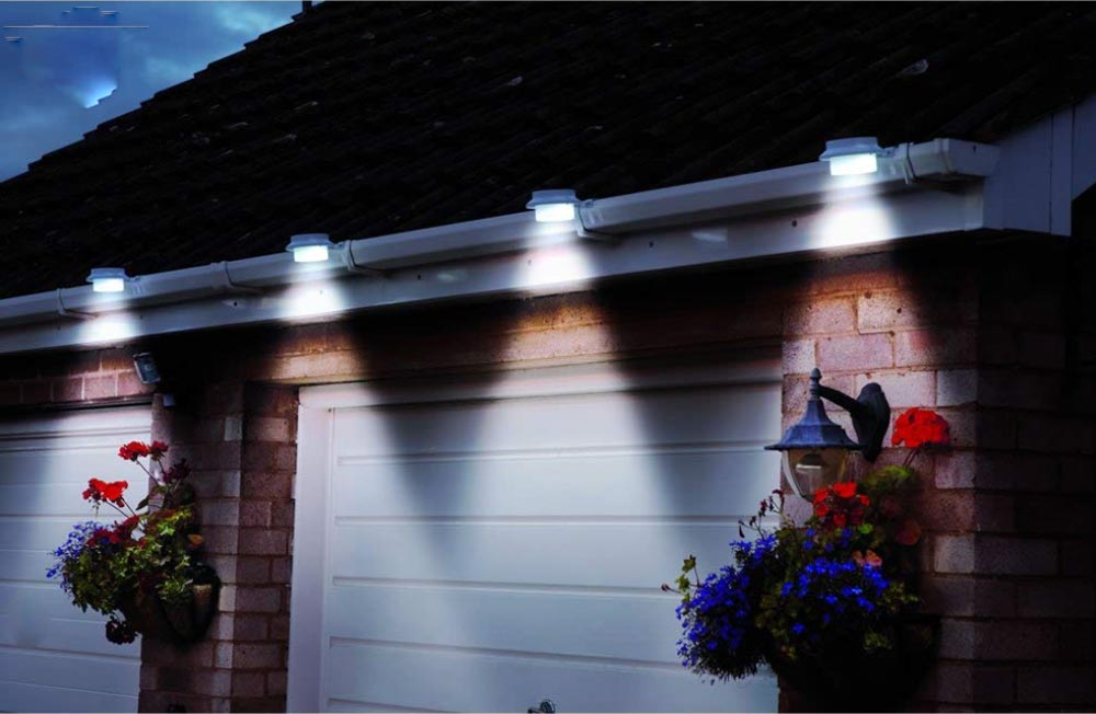 Add Solar Lighting To Your House Gutters With This Set
